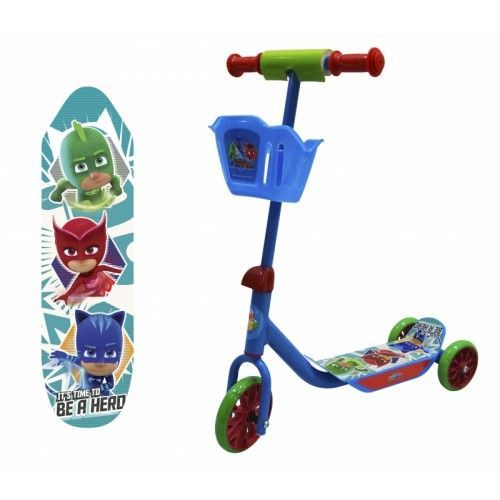 Самокат 1toy PJ Masks 3-хкол Т11700